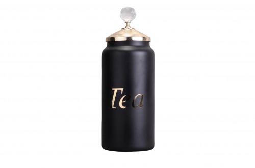 Mat Siyah Tea Büyük Kavanoz