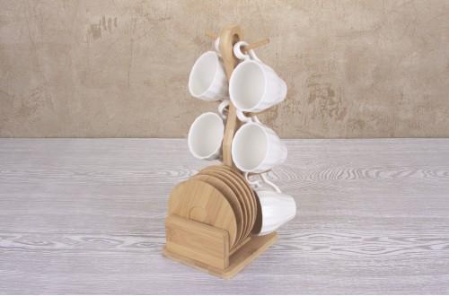 Bambu Stantlı 6Lı Fincan Takımı