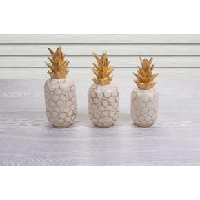 Dekoratif 3Lü Ananas Obje