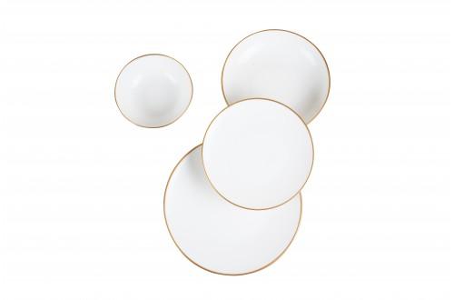 24 Parça Altın Porselen Yemek Takımı